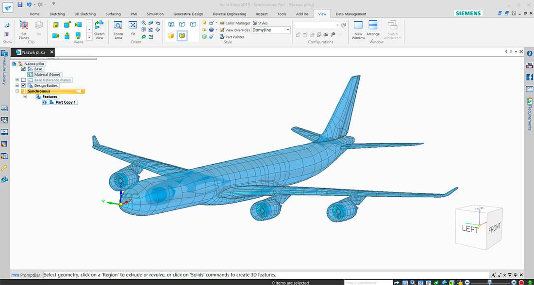 CAD Konstruktion eines A380 mit Solid Edge